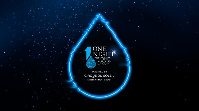 One Night for One Drop logo in a blue drop