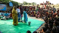 Street theatre in Sheohar, India
